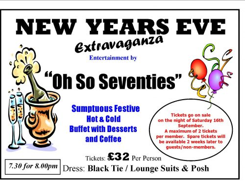 New Year's Eve Party 2017. Tickets now on Sale!!!!